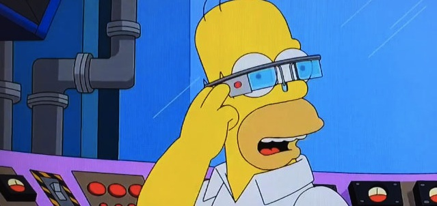 I Google Glass spiegati dai Simpson. Wearable Technologies for dummies.