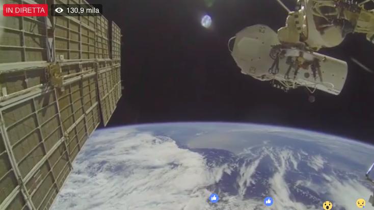 Facebook Live: la diretta Unilad dallo spazio con oltre 1 Milione di interazioni
