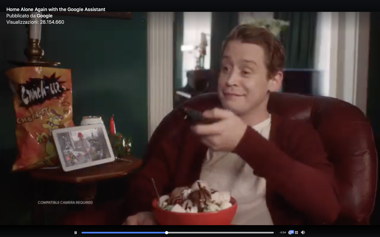 google-assistant-video-Macaulay Culkin-home-alone-mamma-ho-perso-l-aereo