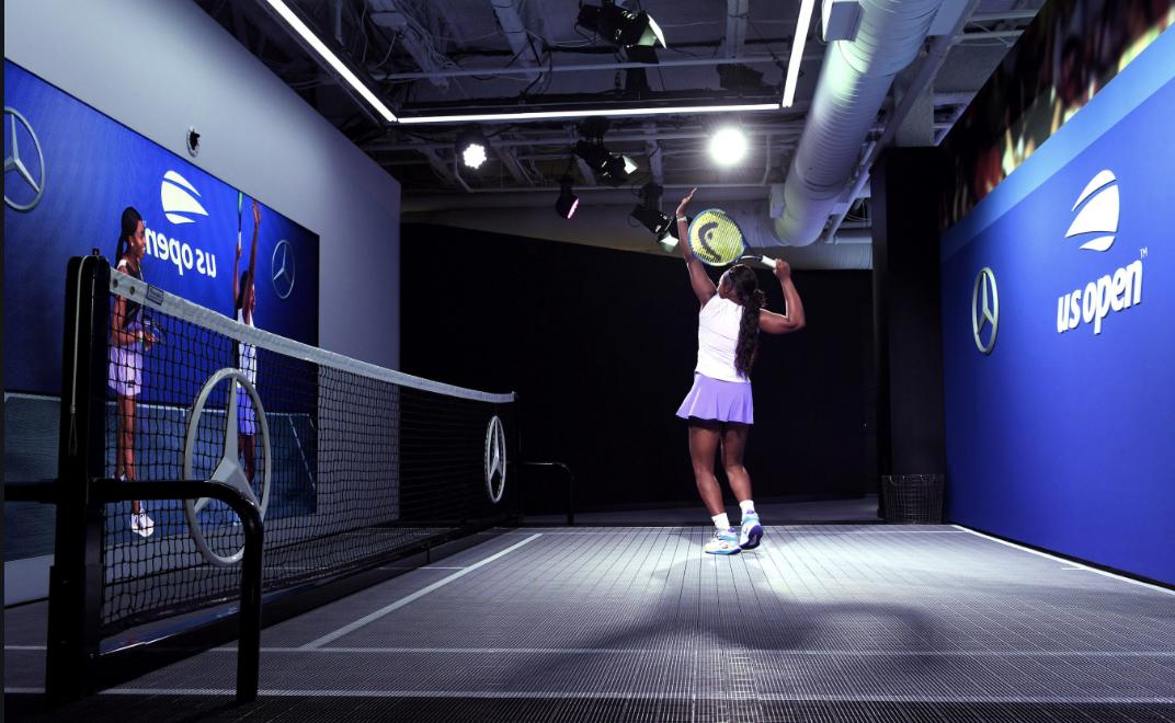 Come Mercedes valorizza la sponsorizzazione degli US Open e la propria tecnologia.