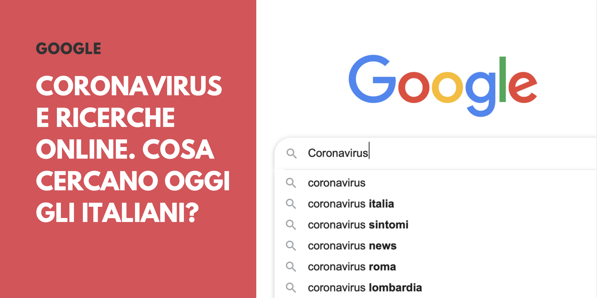 Coronavirus e ricerche online. Cosa cercano oggi gli Italiani (e cosa no)?