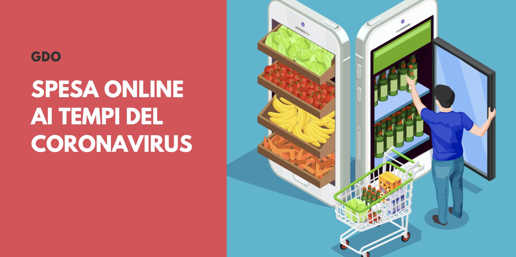 GDO, trend accesso ai siti per la spesa online durante il blocco per Coronavirus