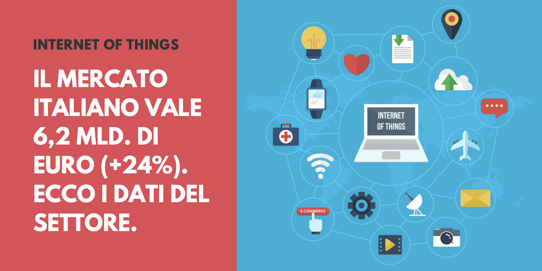 Internet of Things: il mercato italiano vale 6,2 mld. di Euro