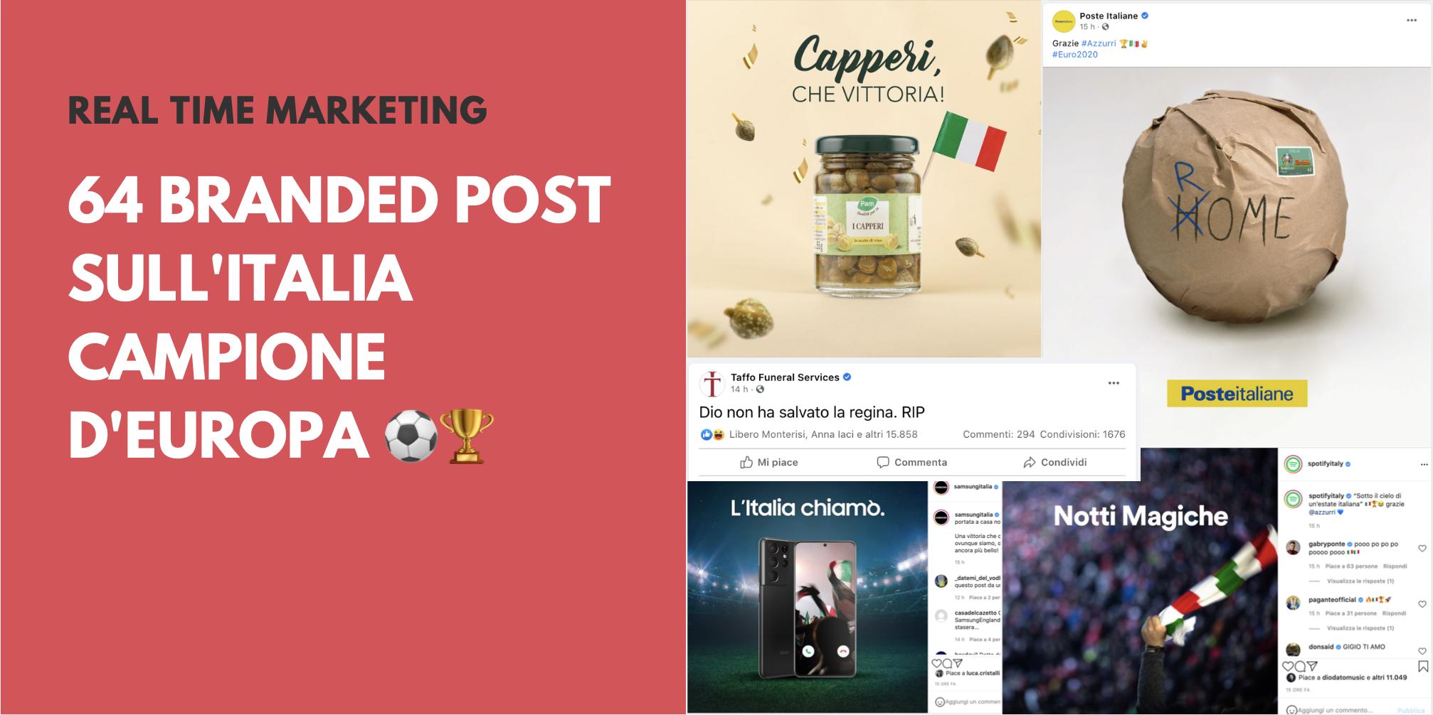 64 branded post sull'Italia Campione d'Europa